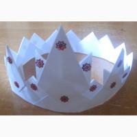 Корона бумажная для девочки. Дешево Детская корона для принцессы, на праздник или день