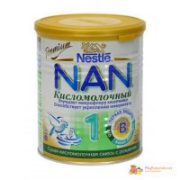 Молочная смесь NAN НАН Кисломолочный Nestle, 400 г. Доступная цена. Доставка