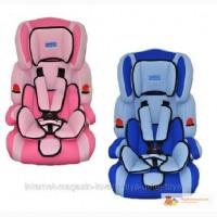 Автокресло детское Bambi, розовое, голубое, синее М 0521, 9-36 кг