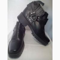 Крепкие ковбойские мужские ботинки, кожа, демисезонные, новые. Безопасная покупка