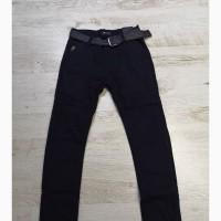Черные штаны-коттоны джинсы на флисе на мальчика р. 134, 140, 146, 152, 158, 164 Seagull