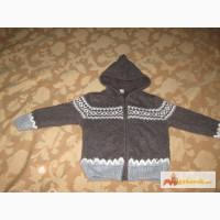 Продам куртку трикотажную на меху с капюшоном на мальчика 4-5 лет, б/у, Харьков