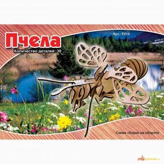 Пчела 3д пазлы-конструктор из дерева на пластинах лазерная резка собственное производство