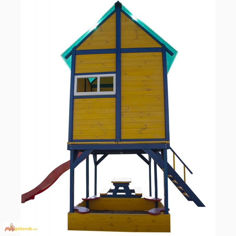 Фото 3. Детская площадка - домик с горкой Папин Домик