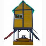 Детская площадка - домик с горкой Папин Домик