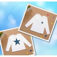 Реглан детский белый со звездой