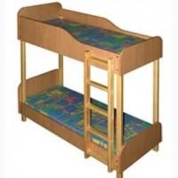 Кровать детская из ДСП+дерево 2-яр. 1400*600