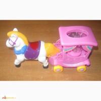 Игрушка Музыкальная пони. Новая Дешево. Детская музыкальная движущаяся пони с каретой