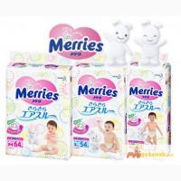Японские подгузники Merries NB (0-5 кг) 90 шт