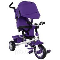 Велосипед 3-х колёсный Tilly Trike фиолетовый с крышей новый