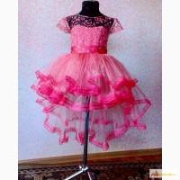 Нарядное детское платье пышное шлейфом детские платья выпускного выпуcкной