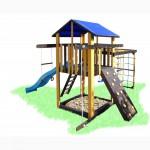 Детский игровой комплекс с качелями и рукоходом Пчелка, игровая площадка