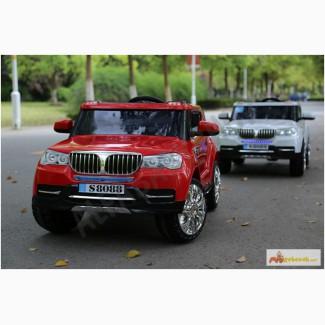 Детский электромобиль BMW S8088 - джип премиум класса, надувные колеса