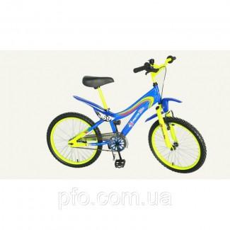 Велосипед EXTRIME BIKE желто-синий 18 новый