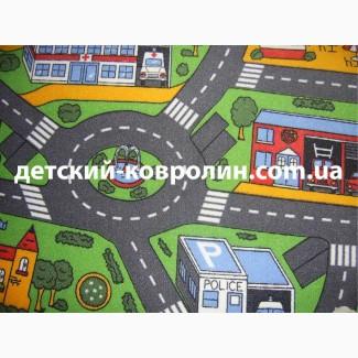 Ковролин с дорогами City Life. Покрытие детское на пол