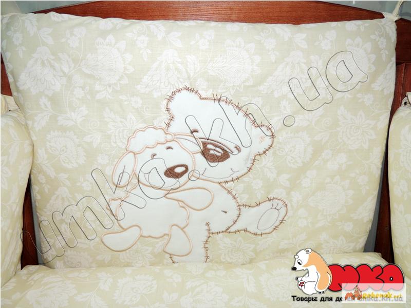 Фото 3. Жаккард с вышивкой комплект детского постельного белья bepino