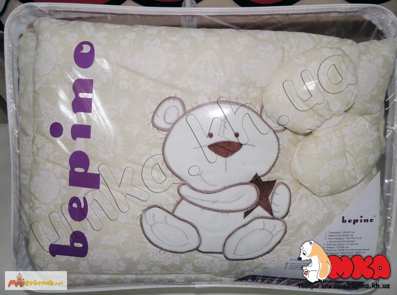Фото 6. Жаккард с вышивкой комплект детского постельного белья bepino