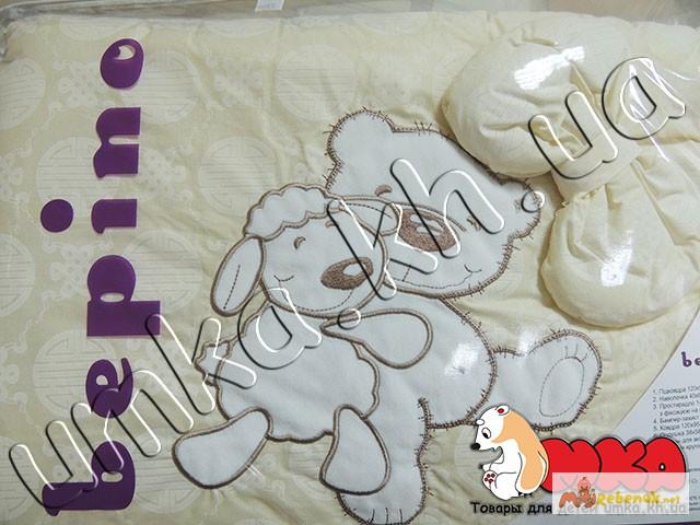 Фото 7. Жаккард с вышивкой комплект детского постельного белья bepino