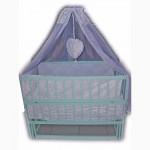 Акция! Новый комплект для сна: кроватка маятник, матрас кокос, постель