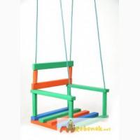 Продам детскую подвесную цветную деревянную качелю