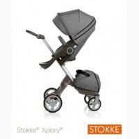 Stokke Xplory V3 2015 Beige Melange Stroller With Extra Black melange Textile
