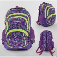 Школьный рюкзак для девочки мягкая спинка, 1 отделение, 3 кармана