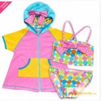 Продам комплекты купальник и халатик для девочек, SWIM N PRETTY, новые