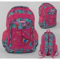 Рюкзак школьный/городской ассиметричный принт, мягкая спинка