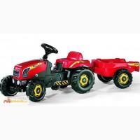 Педальный трактор Ролли Кид с прицепом Rolly Toys