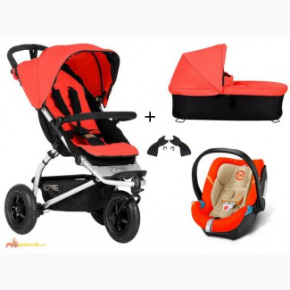 Mountain Buggy Swift 3-in-1 set pram + Cybex Aton 4 carrycot