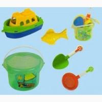 Пісочний набір (5 предметів в відрі) PILSAN 06-131