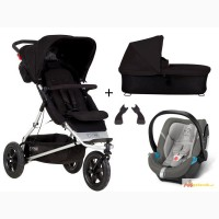 Mountain Buggy + One 3-in-1 set pram + Cybex Aton 4 carrycot