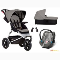 Mountain Buggy Urban Jungle 3-in-1 set pram + Cybex Aton 4 carrycot