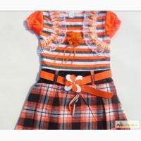 Платье для девочки с поясом -новое