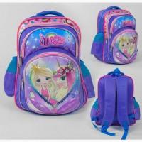 Школьный рюкзак единорог, мягкая спинка, 3-d рисунок, 2 кармана, 1 отделение