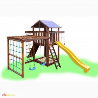 Детский игровой комплекс с качелями и рукоходом, игровая площадка, спортивный комплекс