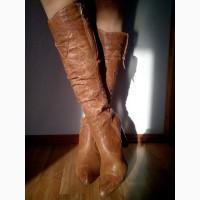 Стильные женские сапоги Marinety демисезонные, кожа, б/у Безопасная покупка