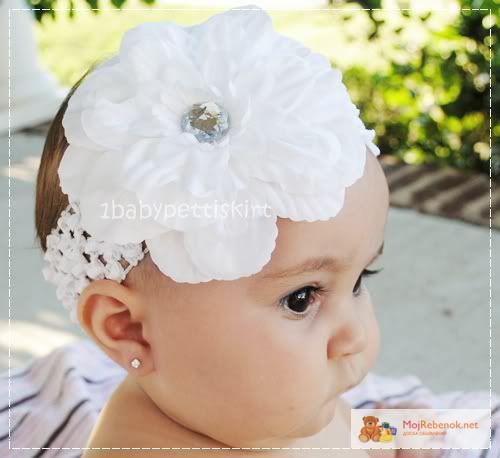 Повязка на голову своими руками для новорожденной девочки