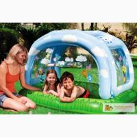 Продам красивый надувной детский бассейн 57406 Навес