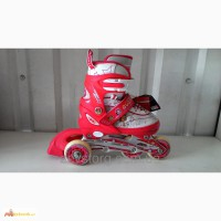Детские раздвижные ролики четырех колесные размер 30-33
