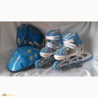 Комплект роликов+шлем+защита размеры 28-32, 33-37