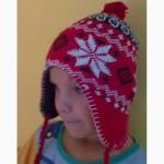 Теплые шапочки на мальчика и девочку