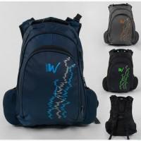 Городской/школьный рюкзак, мягкая спинка, ассиметрия, usb-кабель