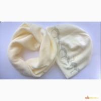 Нежный и мягкий комплект для девочки: шапочка и снуд 48-52 рр