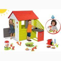 Детский домик Smoby с летней кухней 127cм + тележка с мороженным