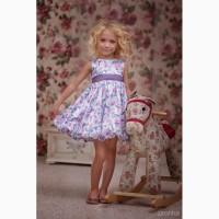 Нарядное платье для девочки Цветочки