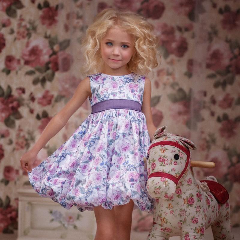 Фото 3. Нарядное платье для девочки Цветочки