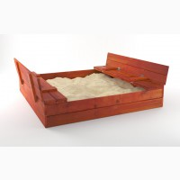 Детская песочница трансформер 150см с крышкой Непоседа