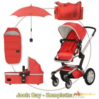 Joolz Day II Complete XL - RED / SILVER - 2014