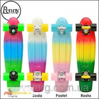 Скейтборд/скейт Penny Board Fades Градиент/Мультиколор (Пенни борд)